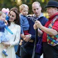 Princess Charlotte, the Duchess of Cambridge, the Duke of Cambridge and Prince George