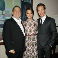 Harvey Weinstein, Keira Knightley and Benedict Cumberbatch