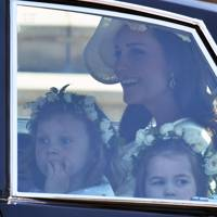 Florence van Cutsem, the Duchess of Cambridge and Princess Charlotte