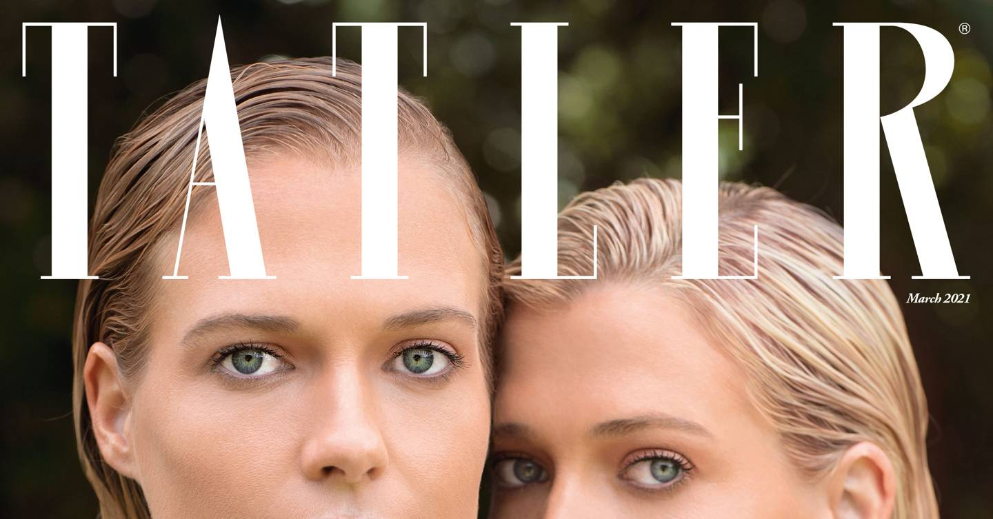 Inside the new issue starring twins Lady Amelia and Lady Eliza Spencer