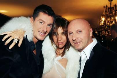 Stefano Gabbana, Carine Rotifeld and Domenico Dolce