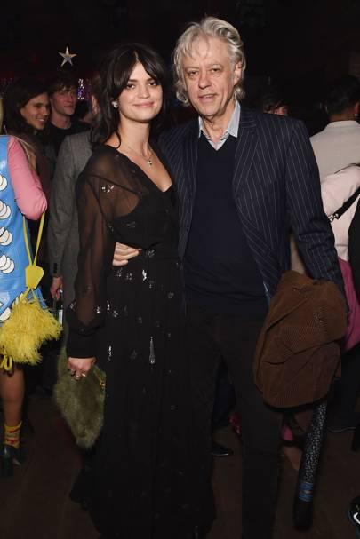 Pixie Geldof and Bob Geldof