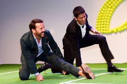 Jeremy Piven and Novak Djokovic