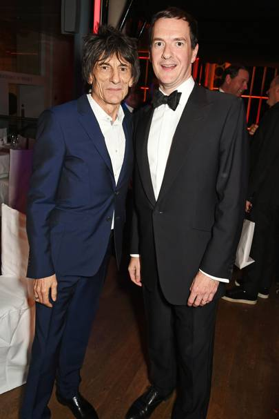 Ronnie Wood and George Osborne