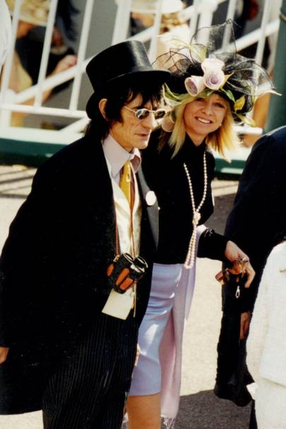 Ronnie Wood and Mrs Ronnie Wood