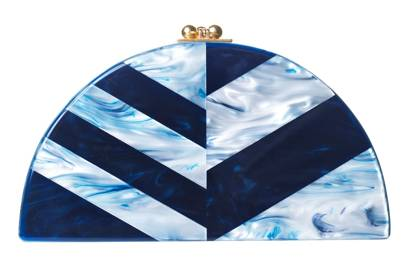 Acrylic clutch, £890, by Edie Parker