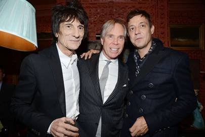 Ronnie Wood, Tommy Hilfiger and Jamie Hince