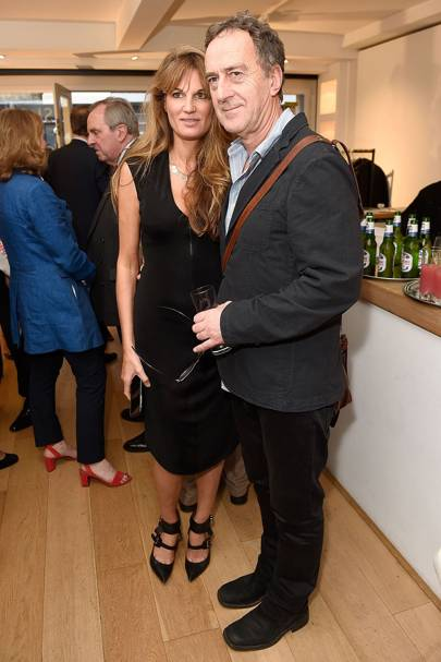 Jemima Goldsmith and Angus Deayton