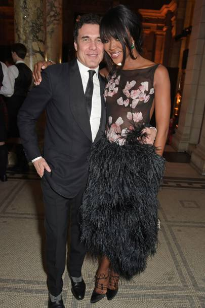 Andre Balazs and Naomi Campbell