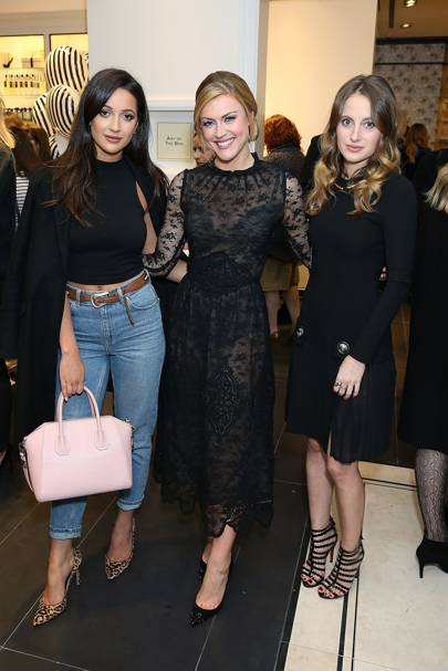 Roxie Nafousi, Camilla Kerslake and Rosie Fortescue