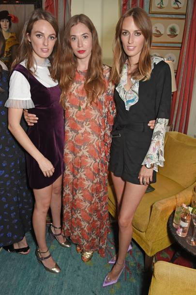 Lady Violet Manners, Anouska Beckwith and Lady Alice Manners