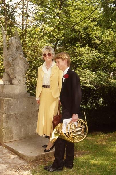 The Hon Mrs Julian Fane and Sam Swire