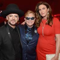 Boy George, Sir Elton John and Caitlyn Jenner