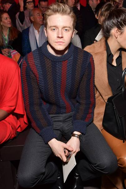 Jack Lowden at Salvatore Ferragamo A/W18