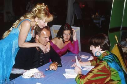 Mrs Sting Sumner, Sting Sumner, Nicola Tate and Mrs David Bache