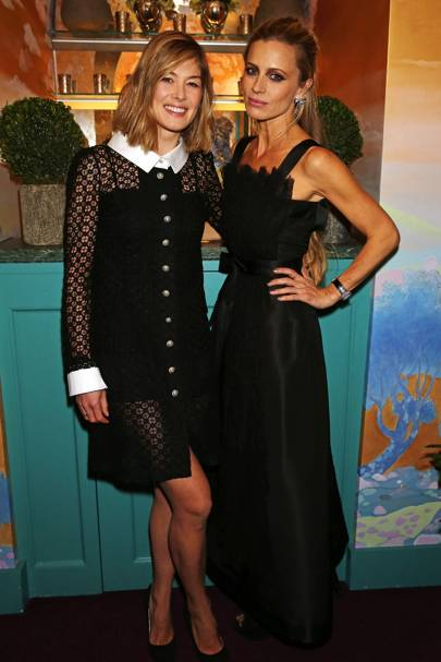 Laura Bailey and Rosamund Pike