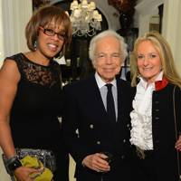 Gayle King, Ralph Lauren and Ricky Lauren