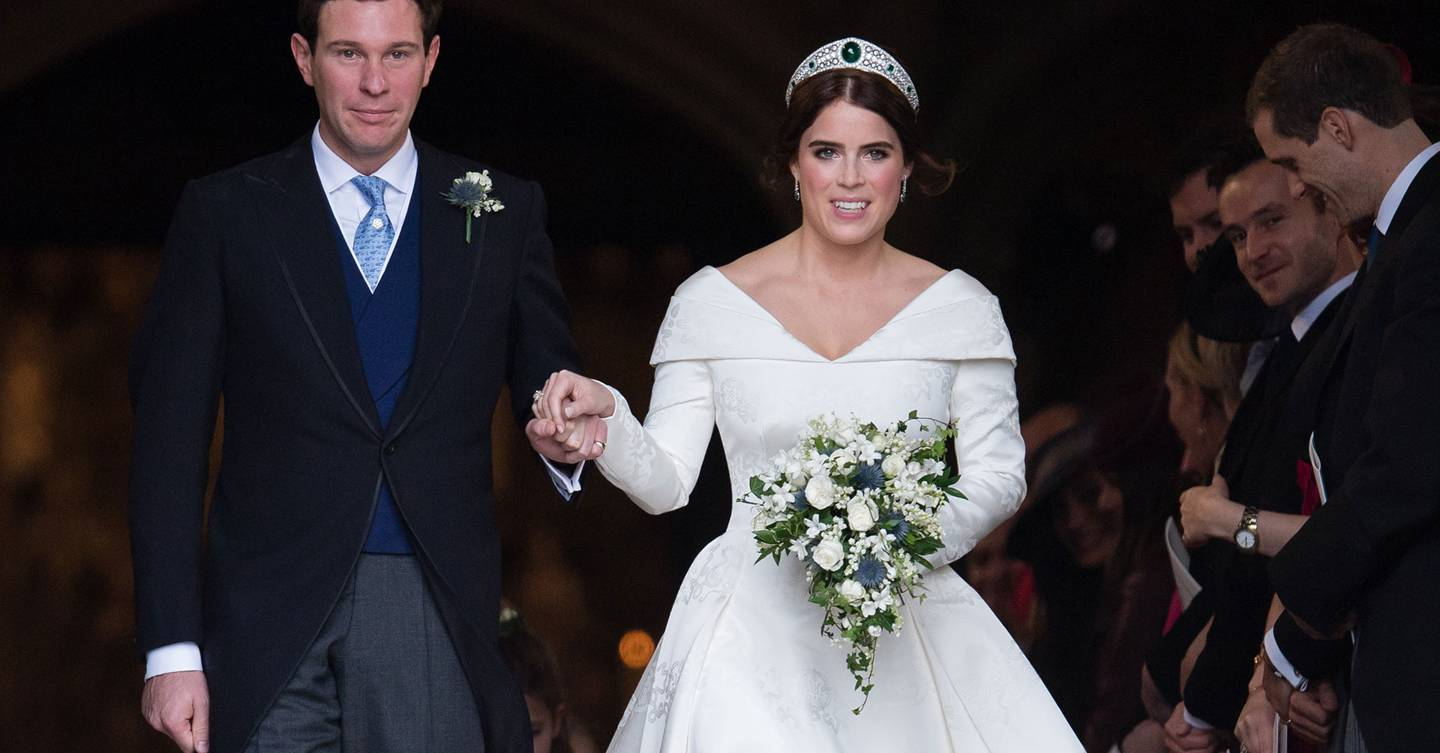 The duo behind Princess Eugenie's wedding dress press pause