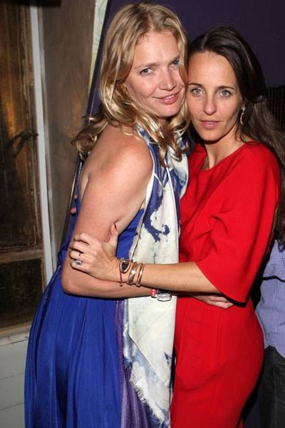 Jodie Kidd and Julie Brangstrup, leaving party at The Box