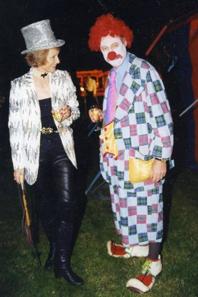 Mrs Michael Campbell and Sir David Thompson