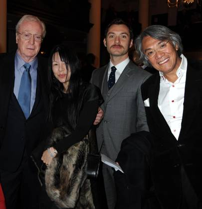 Sir Michael Caine, Caroline Minghella, Jude Law and Sir David Tang, 2008