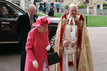 The Duke of Edinburgh and the Queen at Lady Gabriella Windsor and Thomas Kingston's wedding, May 2019