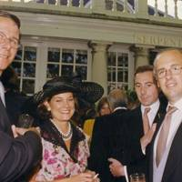 Neil McTaggart, Mrs Henryk de Kwiatkowski, William Lemarque and Carletto O'Donnell