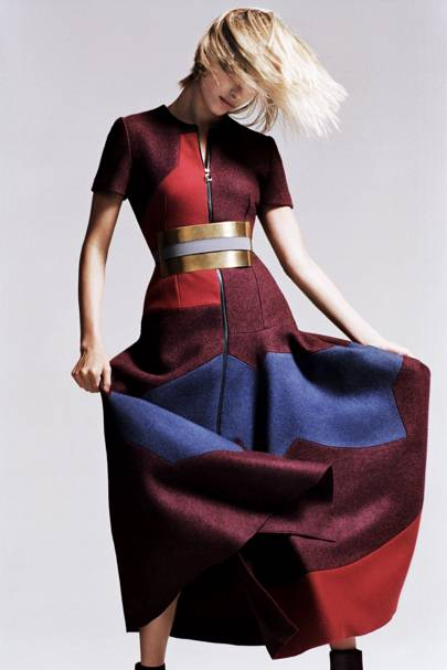Felt dress £1,850 and belt £200, both by Roksanda Ilincic