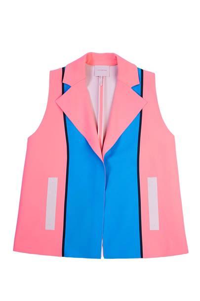 Crepe & Dupion waistcoat, £1,040, by Roksanda