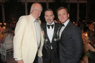Sir Tim Rice, David Furnish and Taron Egerton