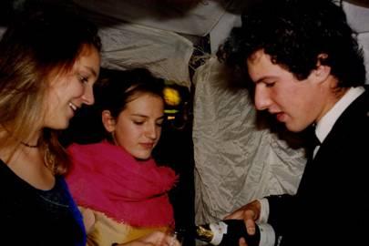 Diana Turcan, Lady Marina Scrymgeour and Nicholas Poett