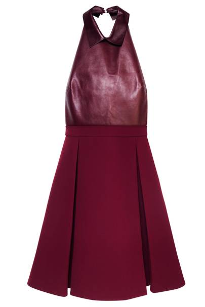 Leather dress, £1,480, by Gucci