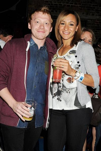 Rupert Grint and Jessica Ennis