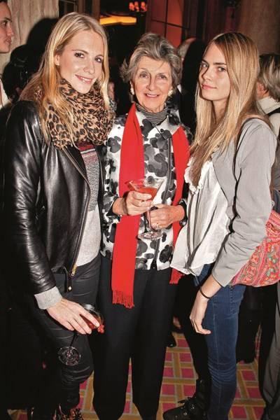 Poppy Delevingne, Janie Stevens and Cara Delevingne