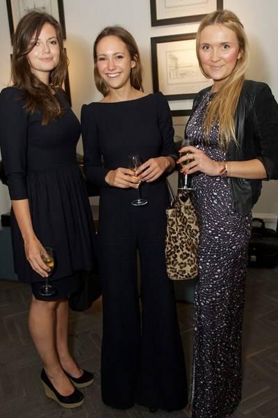 Lady Natasha Rufus Isaacs, Lavinia Brennan and Gabby Guthrie