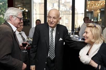 Alexander Chancellor, Naim Attallah and Maria Attallah
