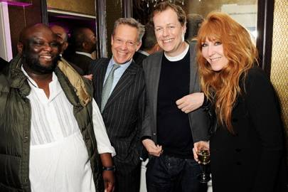Ade, Simon Mann, Tom Parker Bowles and Charlotte Tilbury