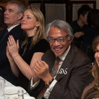 Lenka Vysinova, the Duke of York, Lily Barclay, Sir David Tang and Jemima Khan 2013
