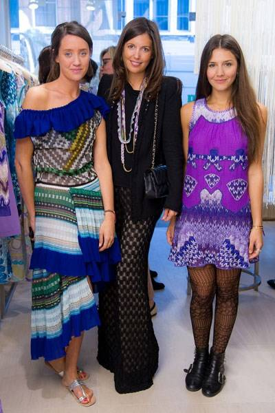 India Langton, Amanda Ferry, Margherita Missoni