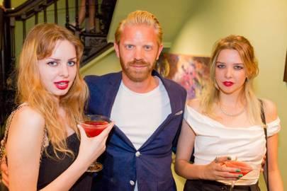 Cosima Bellamacina, Alistair Guy and Greta Bellamacina