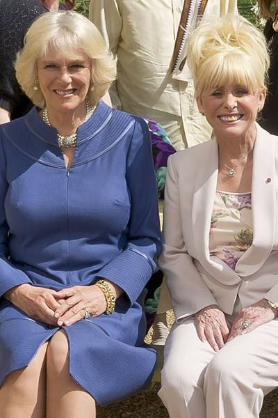 The Duchess of Cornwall and Barbara Windsor