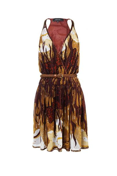 Silk-georgette dress, £2,880, by Gucci