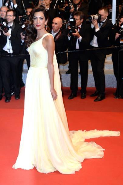 Amal Clooney wearing Atelier Versace in 2016
