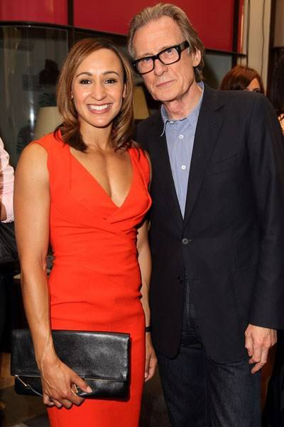Jessica Ennis-Hill and Bill Nighy