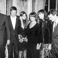 Ben Goldsmith, Jemima Khan, Lady Annabel Goldsmith, Zac Goldsmith, Robin Birley and Francis Pike