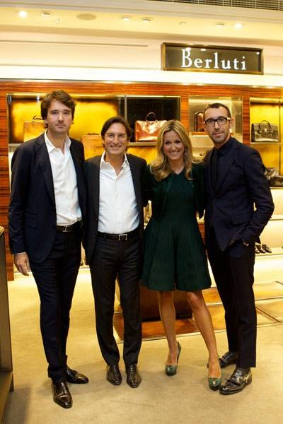 Antoine Arnault, Pietro Beccari, Marigay McKee and Alessandro Sartori
