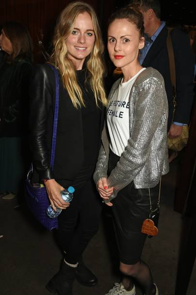 Cressida Bonas and Amber Sainsbury