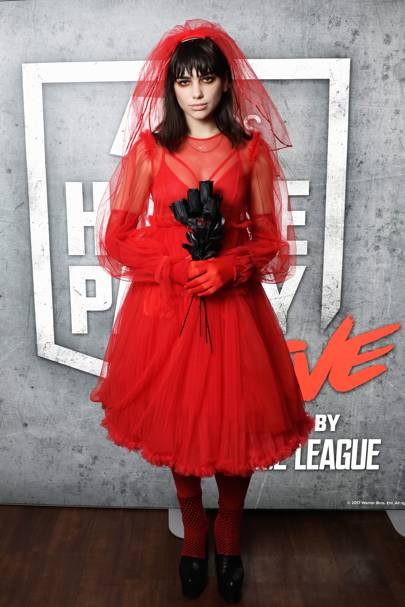 Dua Lipa as a vampire bride, 2018