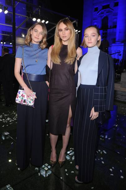 Imogen Waterhouse, Suki Waterhouse and Maddi Waterhouse