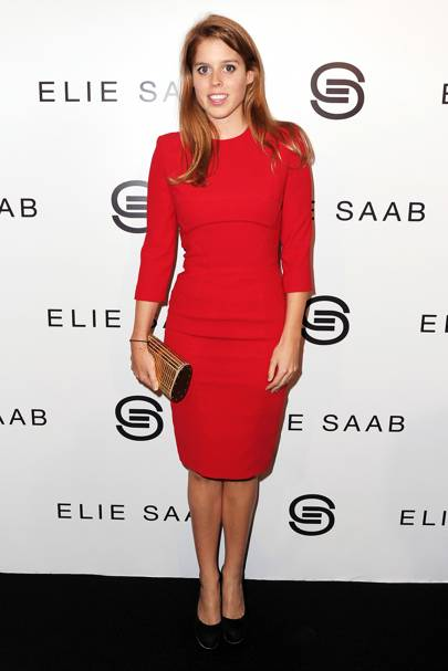 Princess Beatrice at the Elie Saab show, S/S12